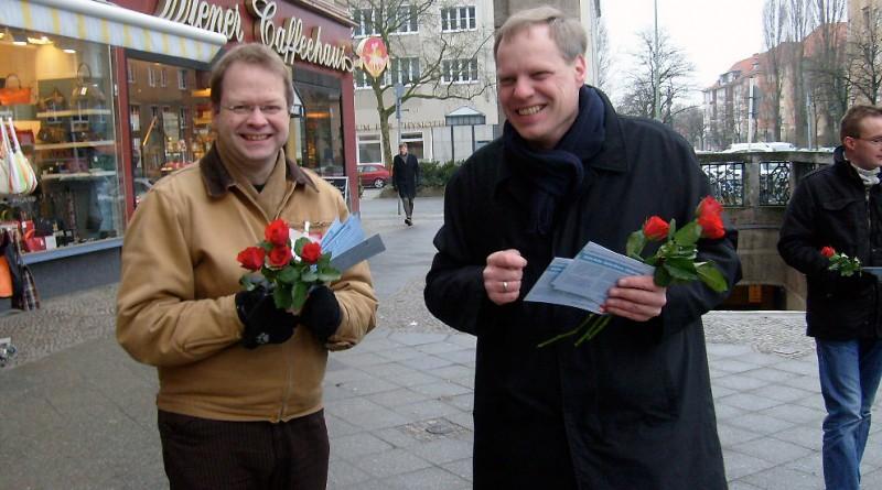 Infostand, Frauentag 2009