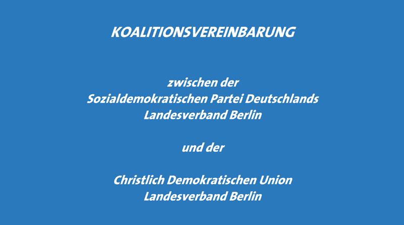 Bild: Koalitionsvereinbarung Berlin 2011