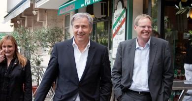 Drewnicki und Wowereit in Westend 2011