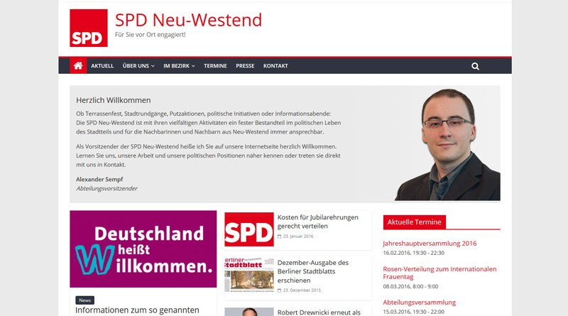 Screenshot Website spd-neuwestend.de 2016