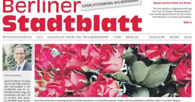Das erste Stadtblatt in 2016