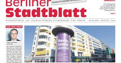 Neues Stadtblatt für August