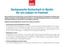 Verbesserte Sicherheit in Berlin für ein Leben in Freiheit