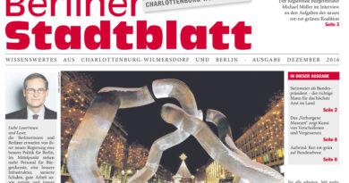 Neues Stadtblatt für Dezember 2016
