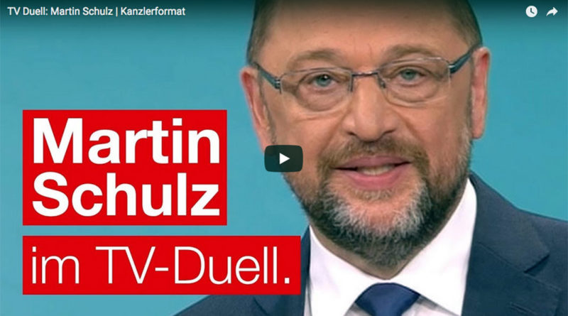 TV Duell Merkel vs. Schulz