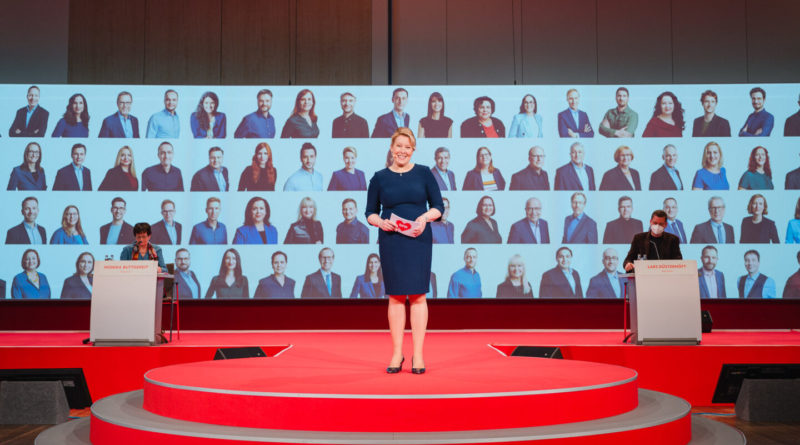 Franziska Giffey Landesparteitag 2021, Foto: Nils Hasenau
